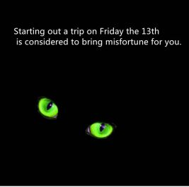 When black cats frolic friday the 13th 13 days of halloween for 13th floor superstition
